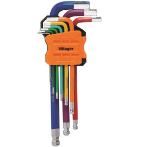 Imbusové klíče VILLAGER (9 ks)