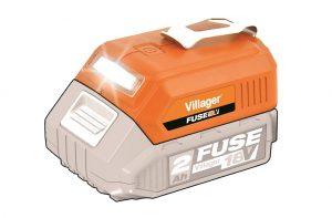 Akumulátorová svítilna + USB nabíječka VILLAGER FUSE VLN 9920 (bezbaterie anabíječky)