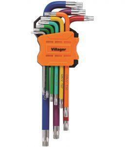 Klíče TORX VILLAGER (9 ks)